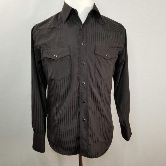 LW Men/'s Western Cowboy Pearl Snap Button Long Sleeve Casual Rodeo Dress Shirt